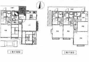 城南地区の賃貸併用住居の間取り(住居兼アパート)