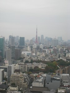 東京都港区高輪の高輪ザレジデンスの高層階からの眺め