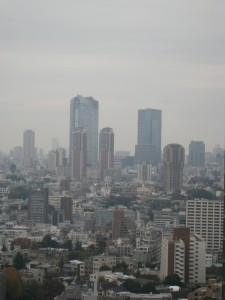 東京都港区の高輪ザレジデンスからの六本木方面の景色