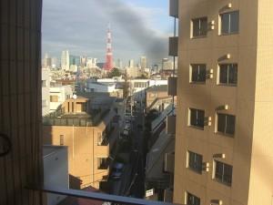 東京都港区の賃貸併用住宅(売りビル)からの風景