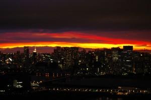 東京湾の夕陽を見れる(Wコンフォートタワーズイースト)