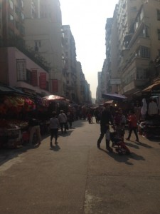 香港下町風景